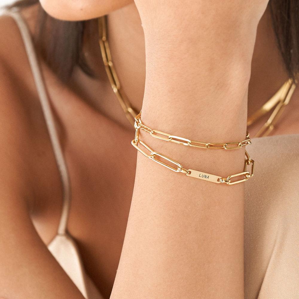 The Showstopper Link Bracelet/Anklet - Gold Vermeil - 4