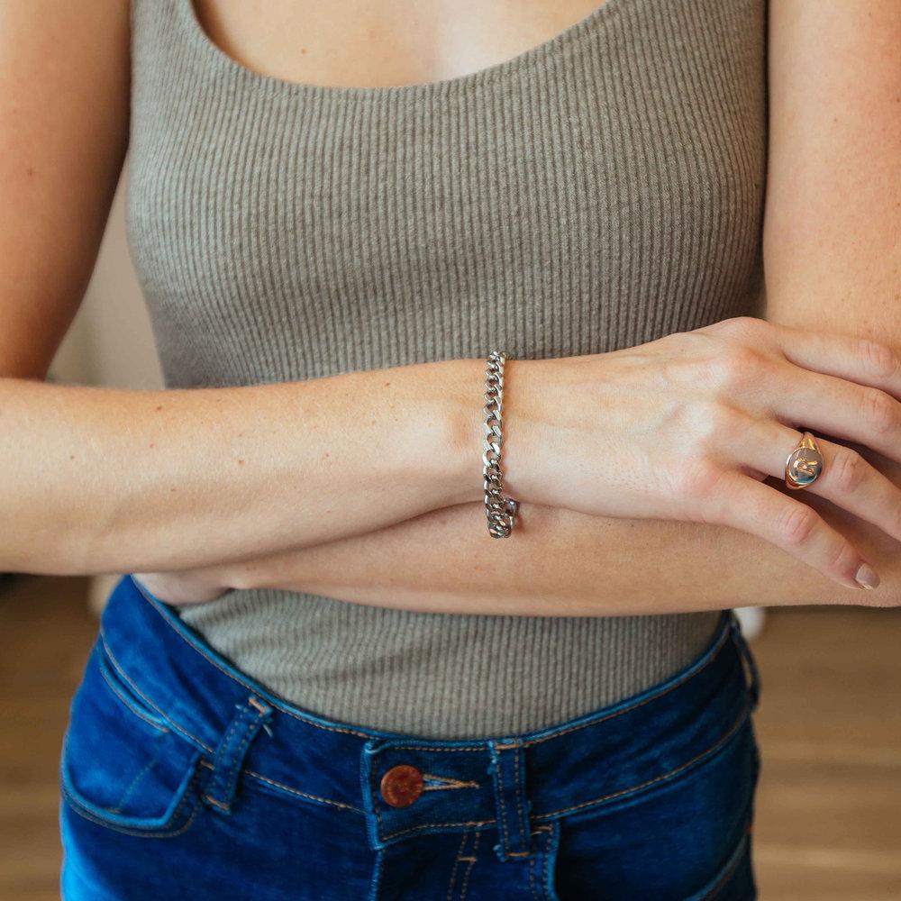 Tallulah Gourmette Bracelet - Stainless Steel - 2