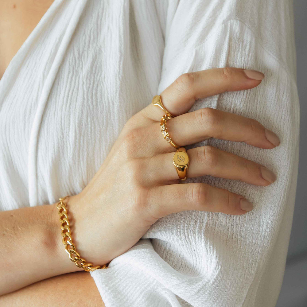 Tallulah Gourmette Bracelet - Gold Plating - 2