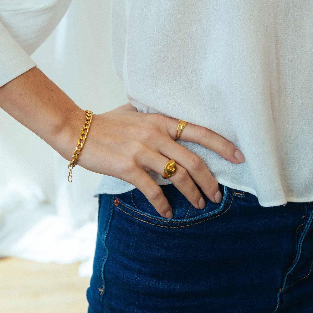 Tallulah Gourmette Bracelet - Gold Plating - 3