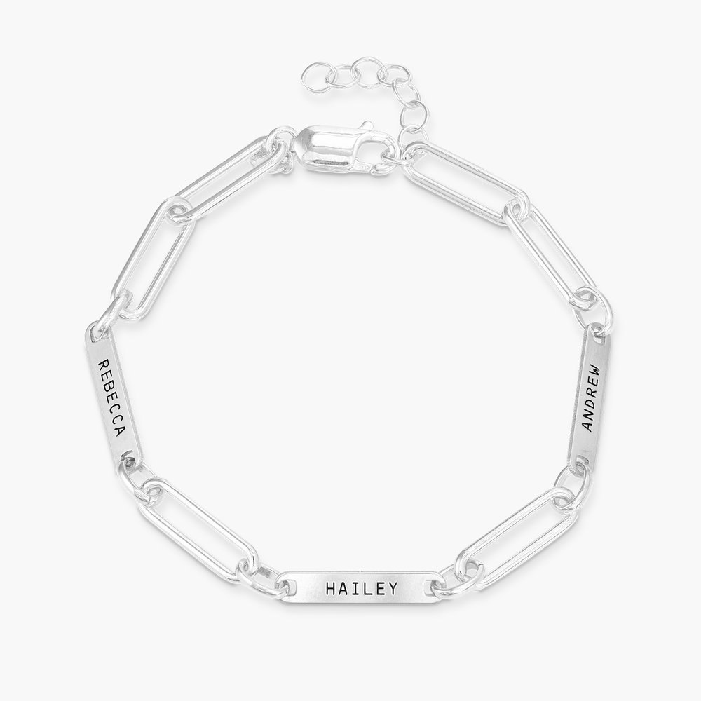 Ivy Name Paperclip Chain Bracelet - Sterling Silver - 1