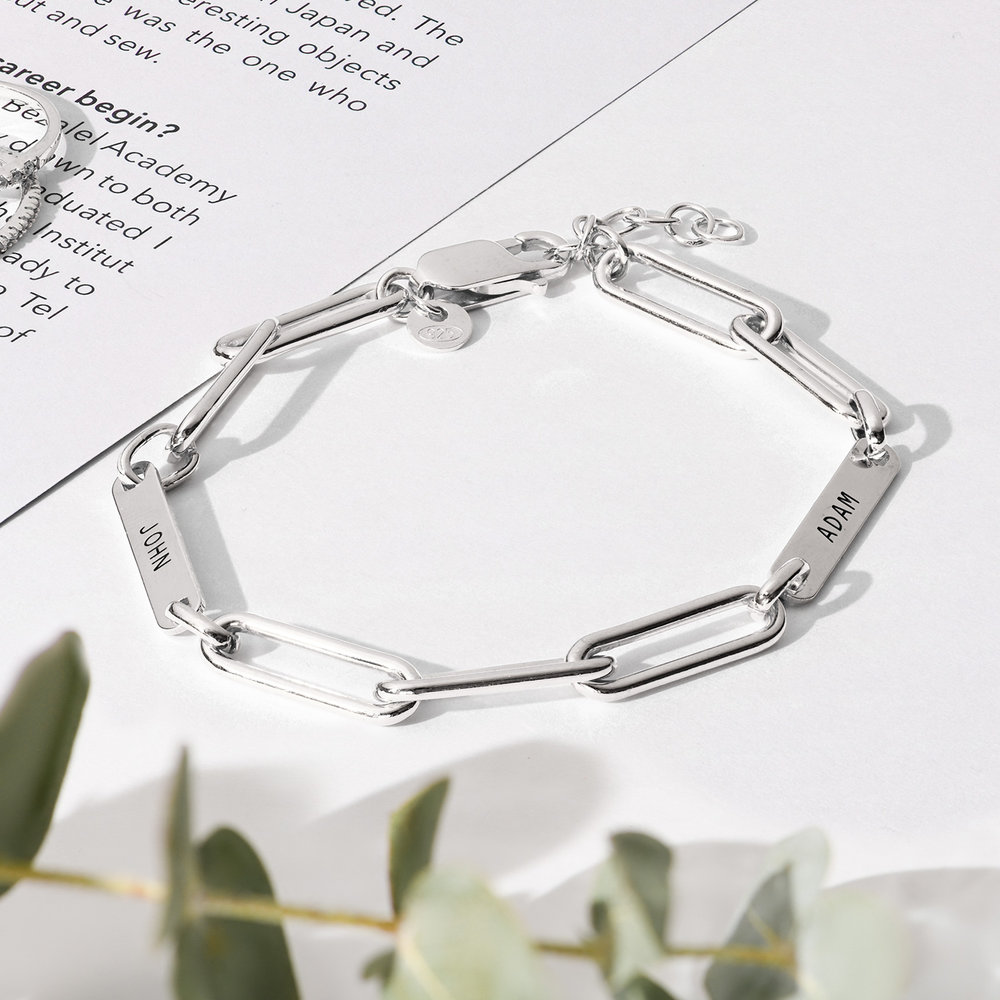 Ivy Name Paperclip Chain Bracelet - Sterling Silver - 2
