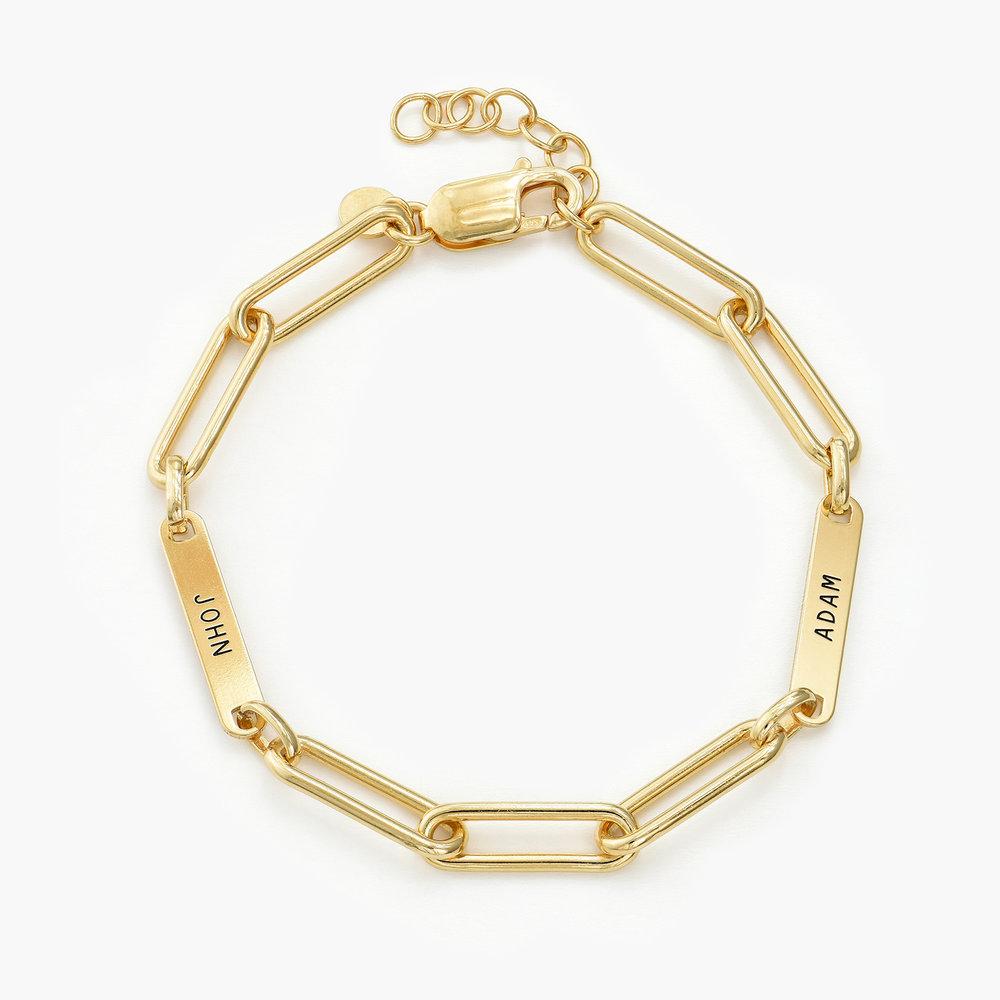 Ivy Name Link Chain Bracelet - Gold Plating - 1
