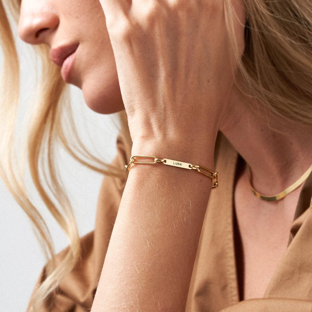 Ivy Name Link Chain Bracelet - Gold Plating - 4