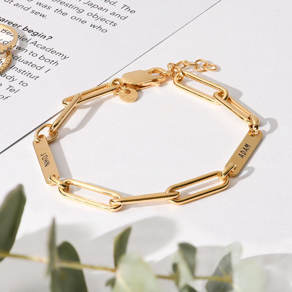Ivy Name Paperclip Chain Bracelet - Gold Vermeil - 2
