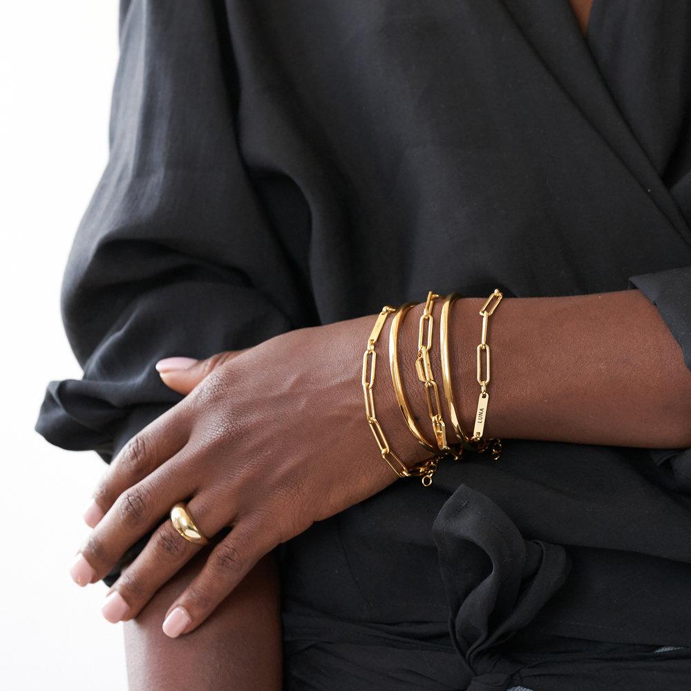Ivy Name Paperclip Chain Bracelet - Gold Vermeil - 3