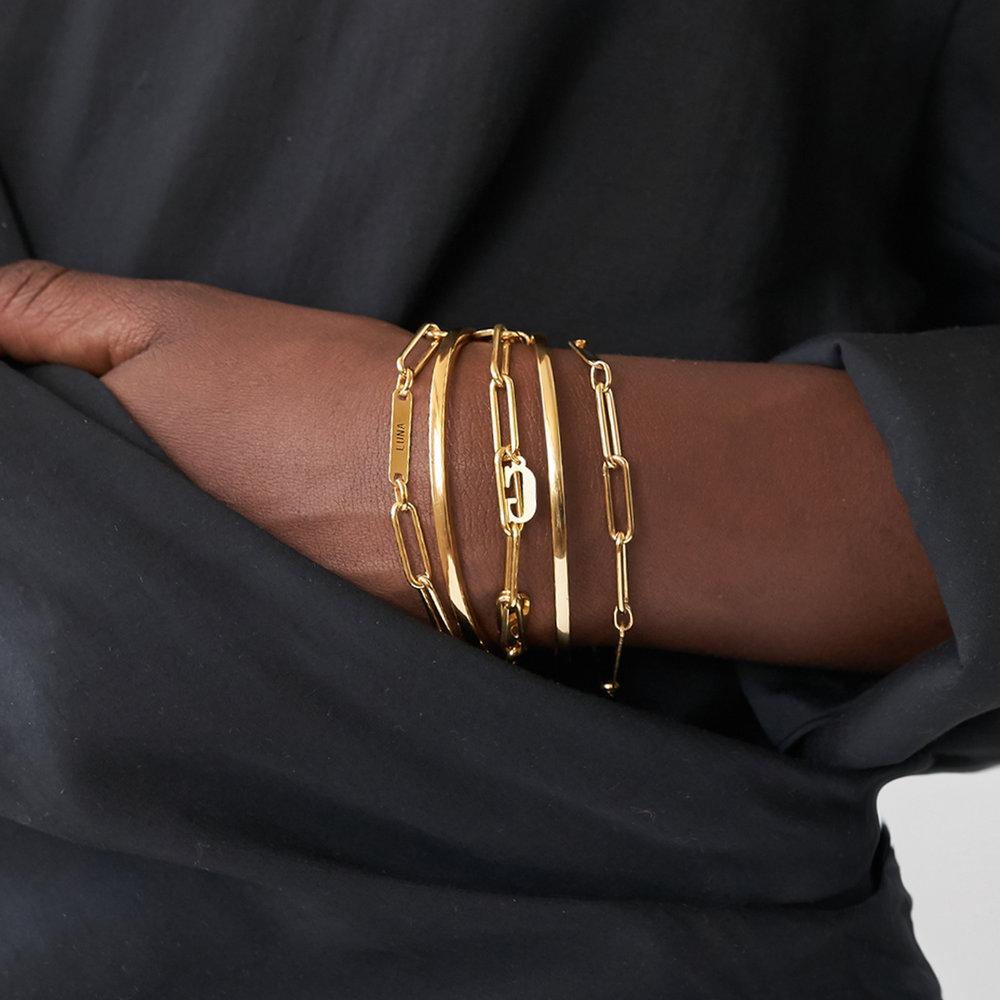 Ivy Name Paperclip Chain Bracelet - Gold Vermeil - 4