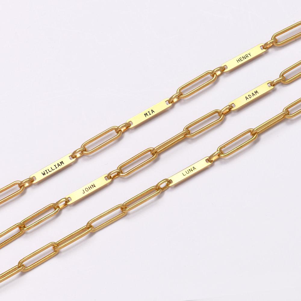 Ivy Name Paperclip Chain Bracelet - Gold Vermeil - 5