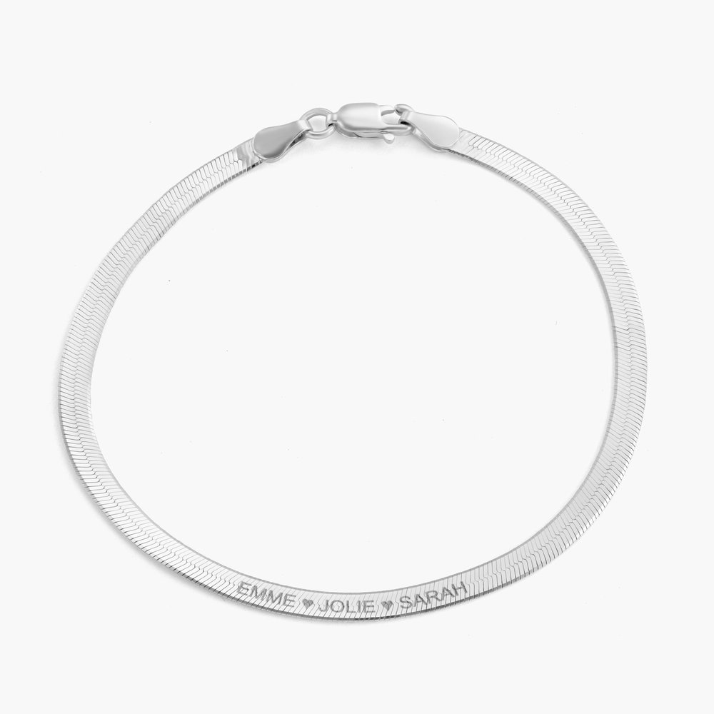 Herringbone Slim Bracelet - Sterling Silver