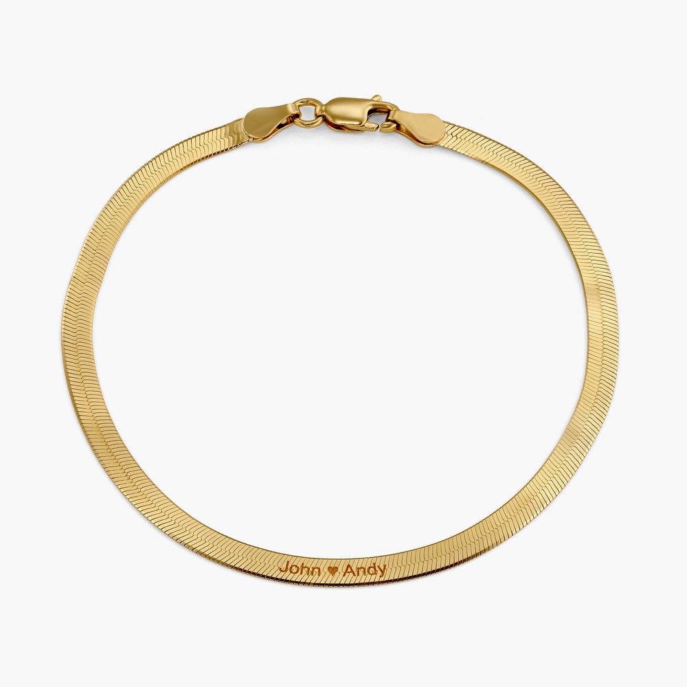 Herringbone Slim Bracelet - Gold Plated