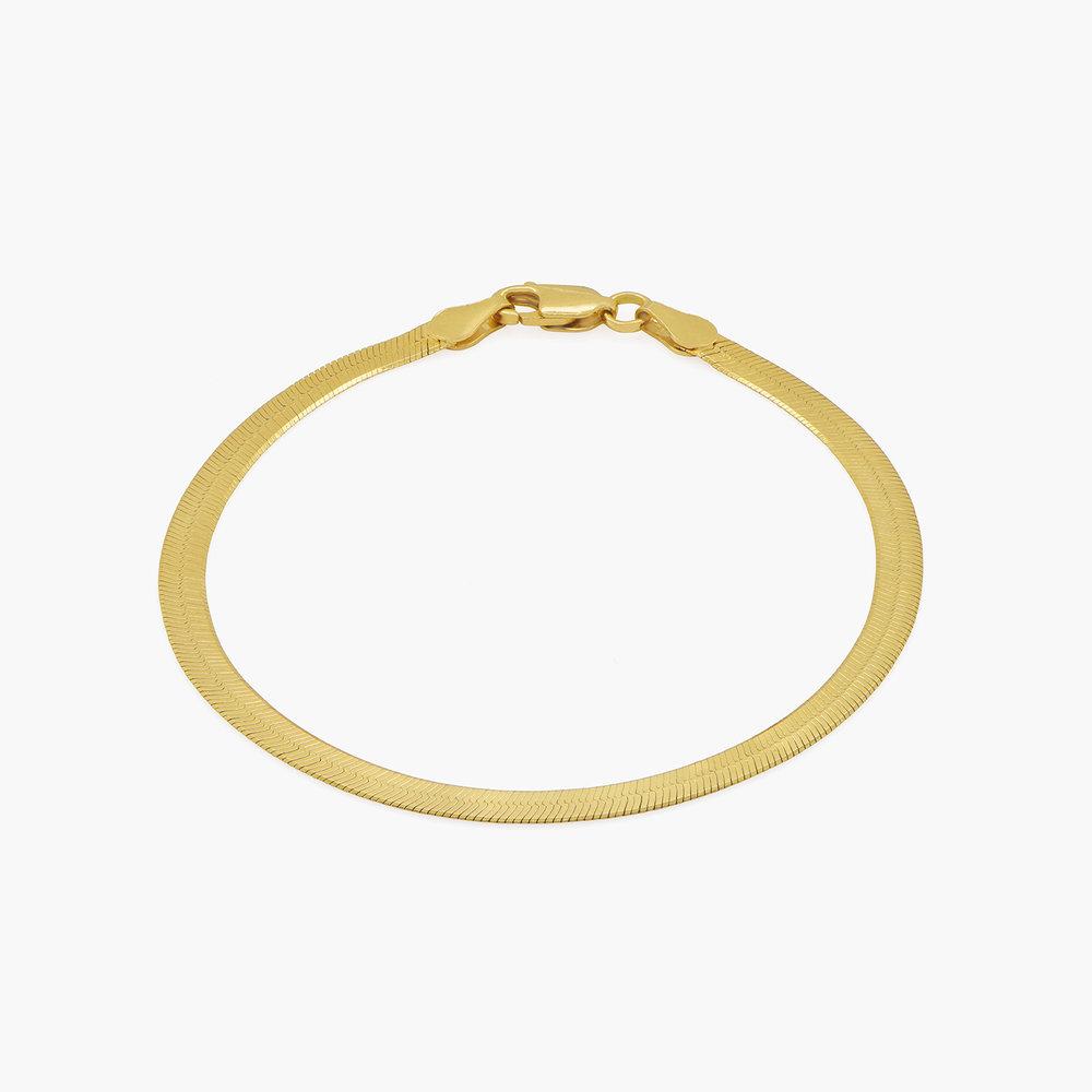 Herringbone Slim Bracelet - Gold Vermeil - 1