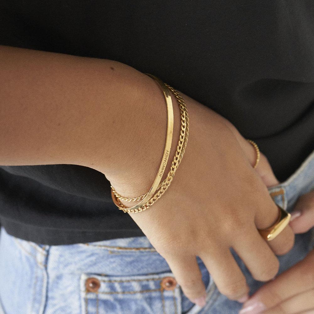 Herringbone Slim Bracelet - Gold Vermeil - 3