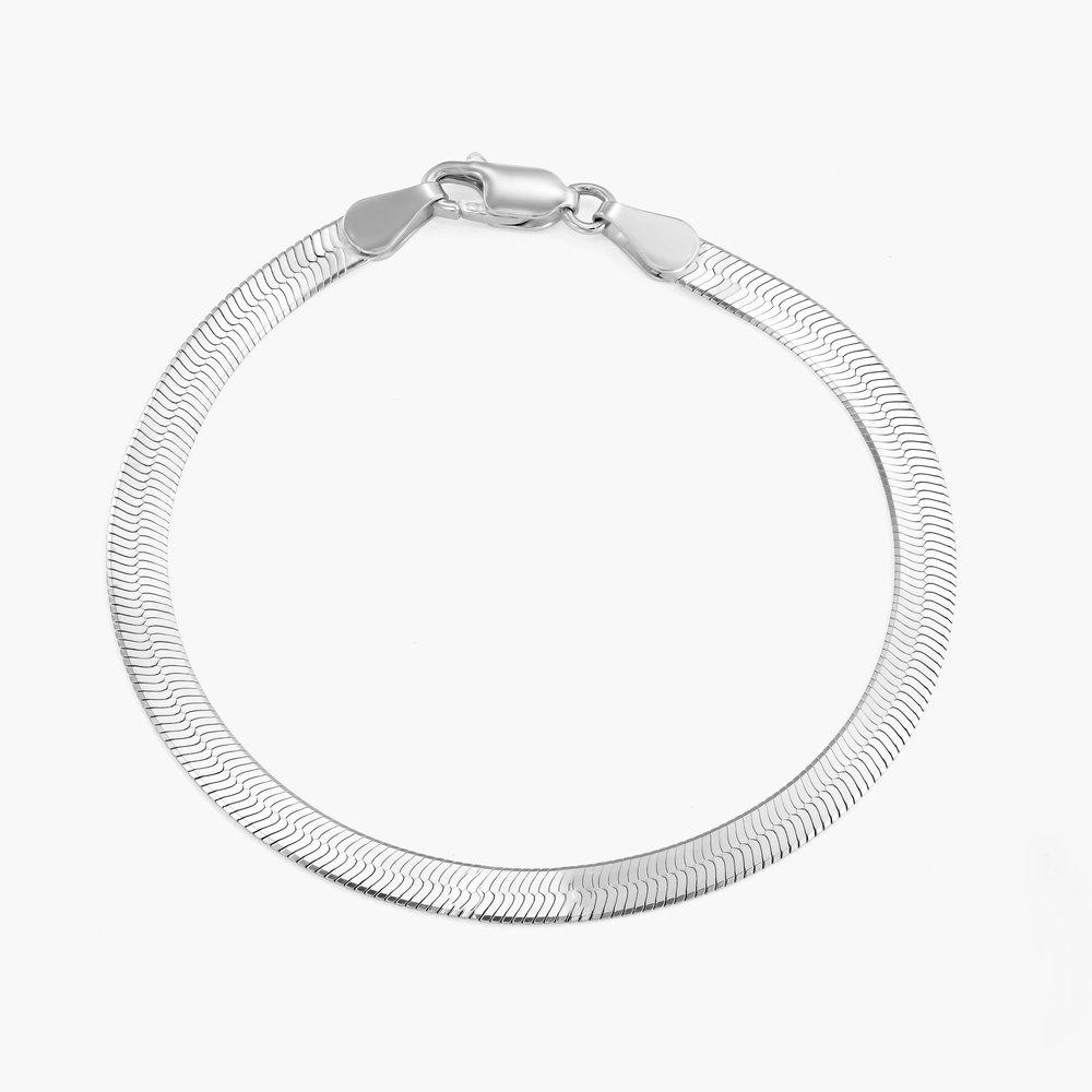 Herringbone Bracelet - Sterling Silver - 1