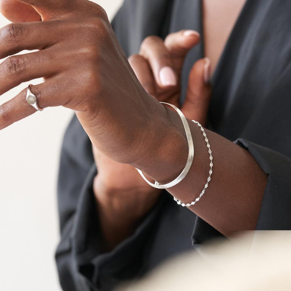 Herringbone Bracelet - Sterling Silver - 2