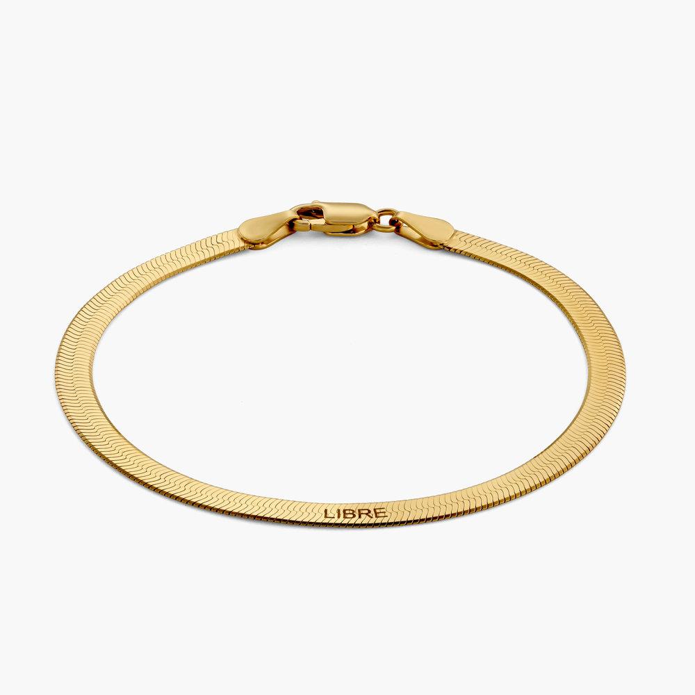 Herringbone Bracelet - Gold Plated
