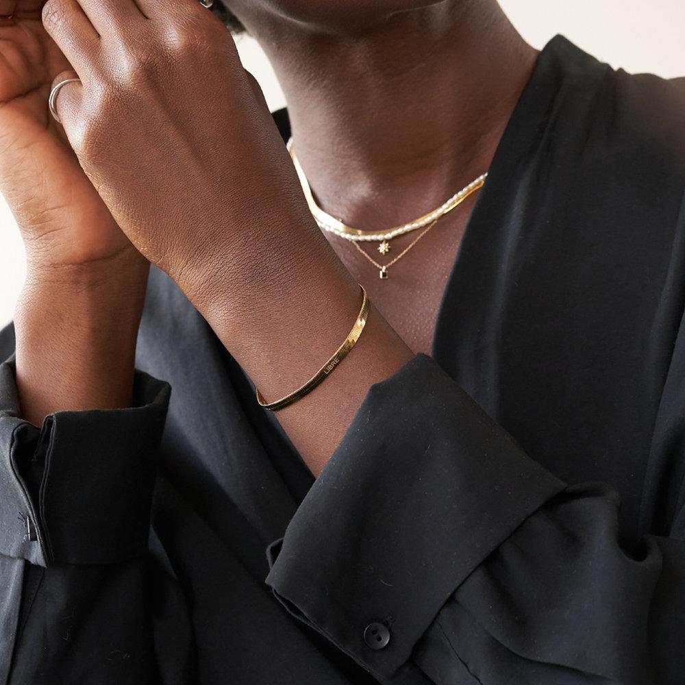 Herringbone Bracelet - Gold Plated - 2