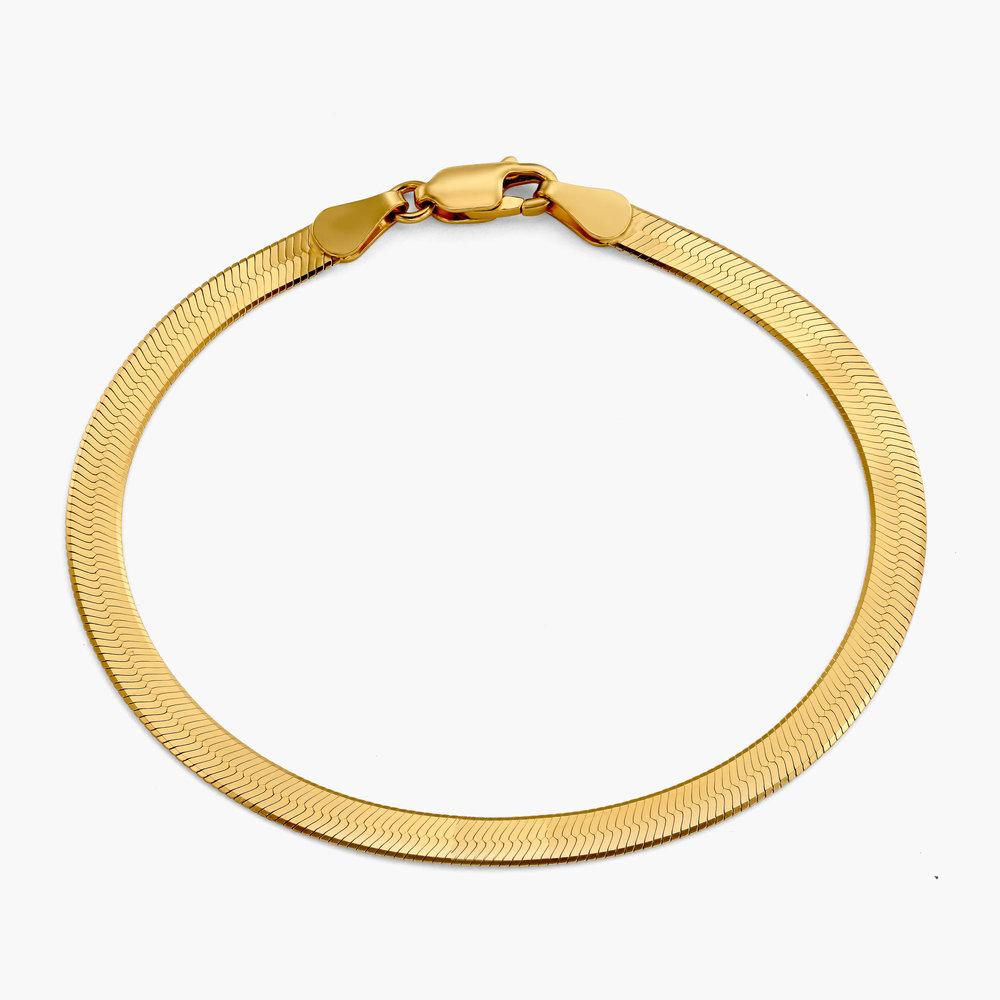 Herringbone Bracelet - Gold Vermeil - 1