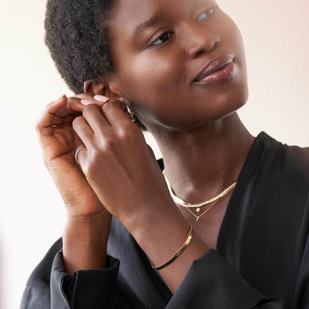 Herringbone Bracelet - Gold Vermeil - 3