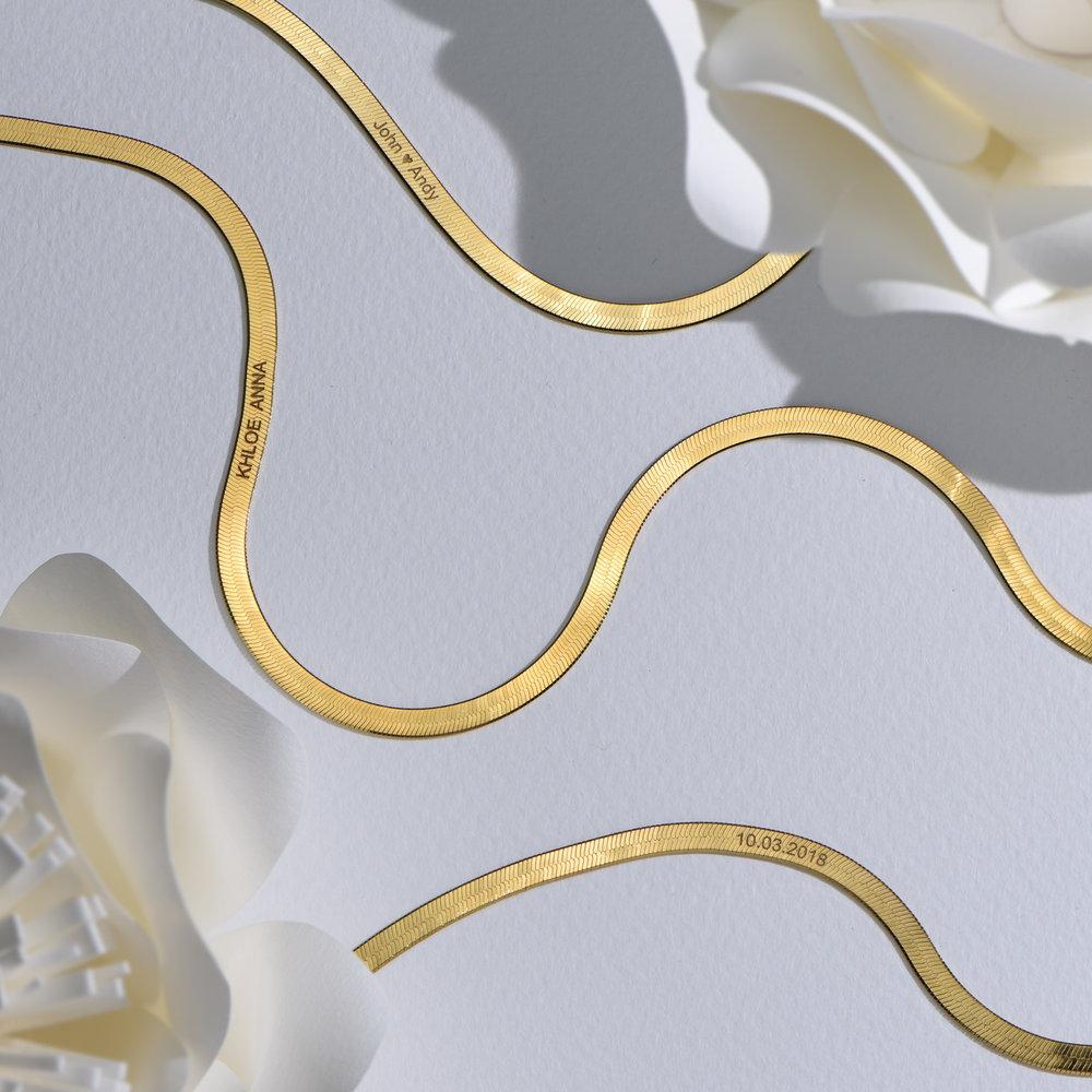 Herringbone Bracelet - Gold Vermeil - 4