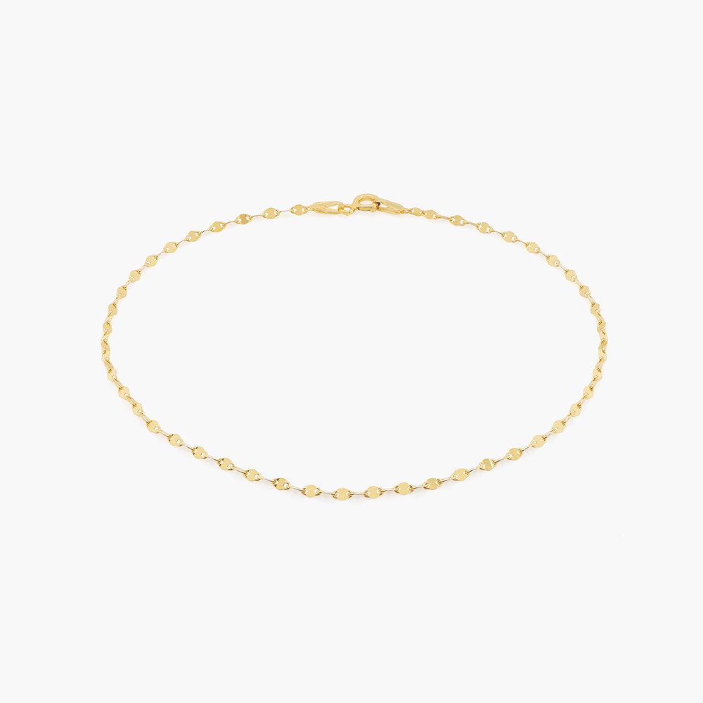 Margo Mirror Chain Bracelet/Anklet - Gold Plating