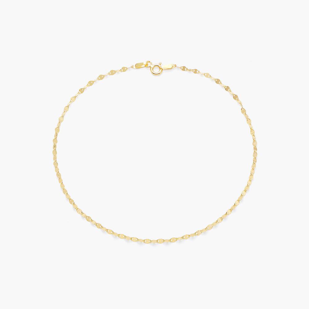 Margo Mirror Chain Bracelet/Anklet - Gold Plating - 1