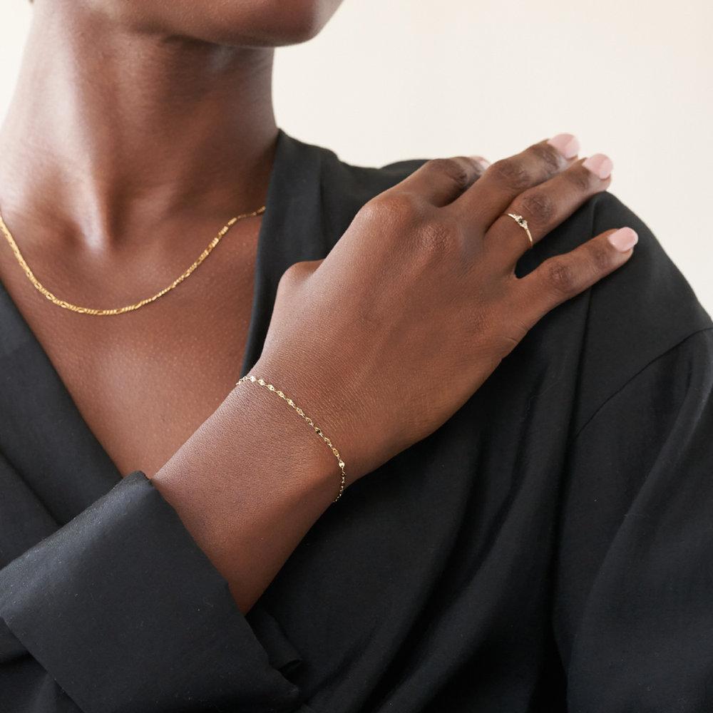 Margo Mirror Chain Bracelet/Anklet - Gold Plating - 2