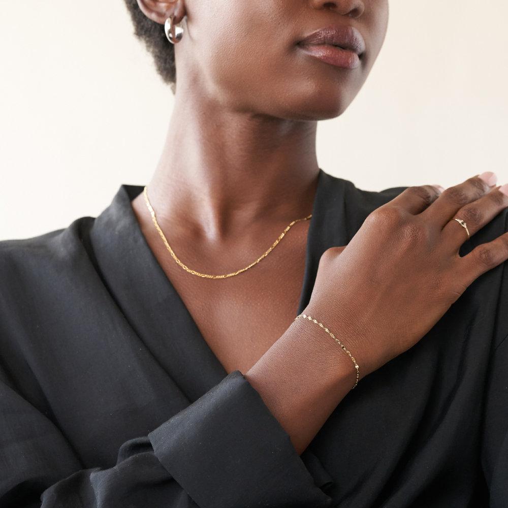 Margo Mirror Chain Bracelet/Anklet - Gold Plating - 3