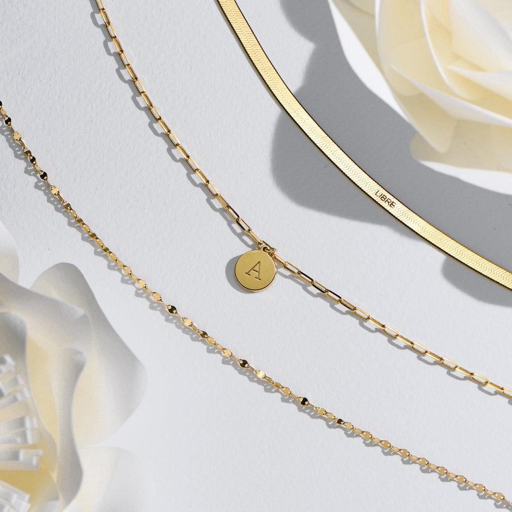 Margo Mirror Chain Bracelet/Anklet - Gold Plating - 5
