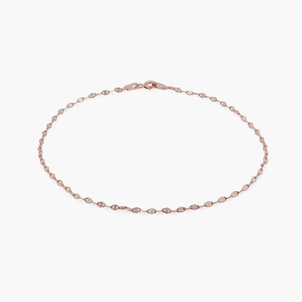 Margo Mirror Chain Bracelet/Anklet - Rose Gold Plating