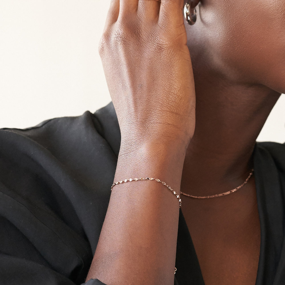 Margo Mirror Chain Bracelet/Anklet - Rose Gold Plating - 2
