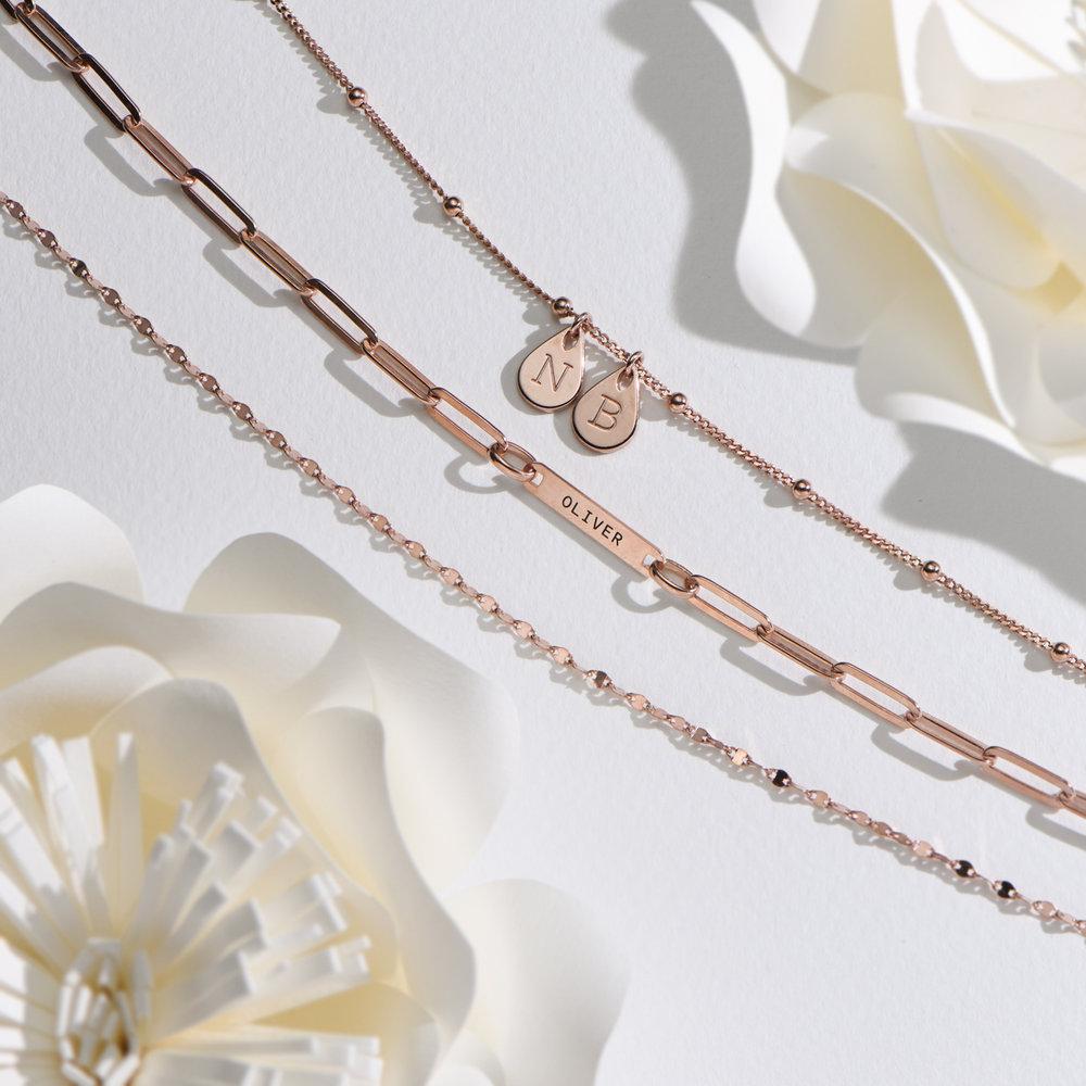 Margo Mirror Chain Bracelet/Anklet - Rose Gold Plating - 5