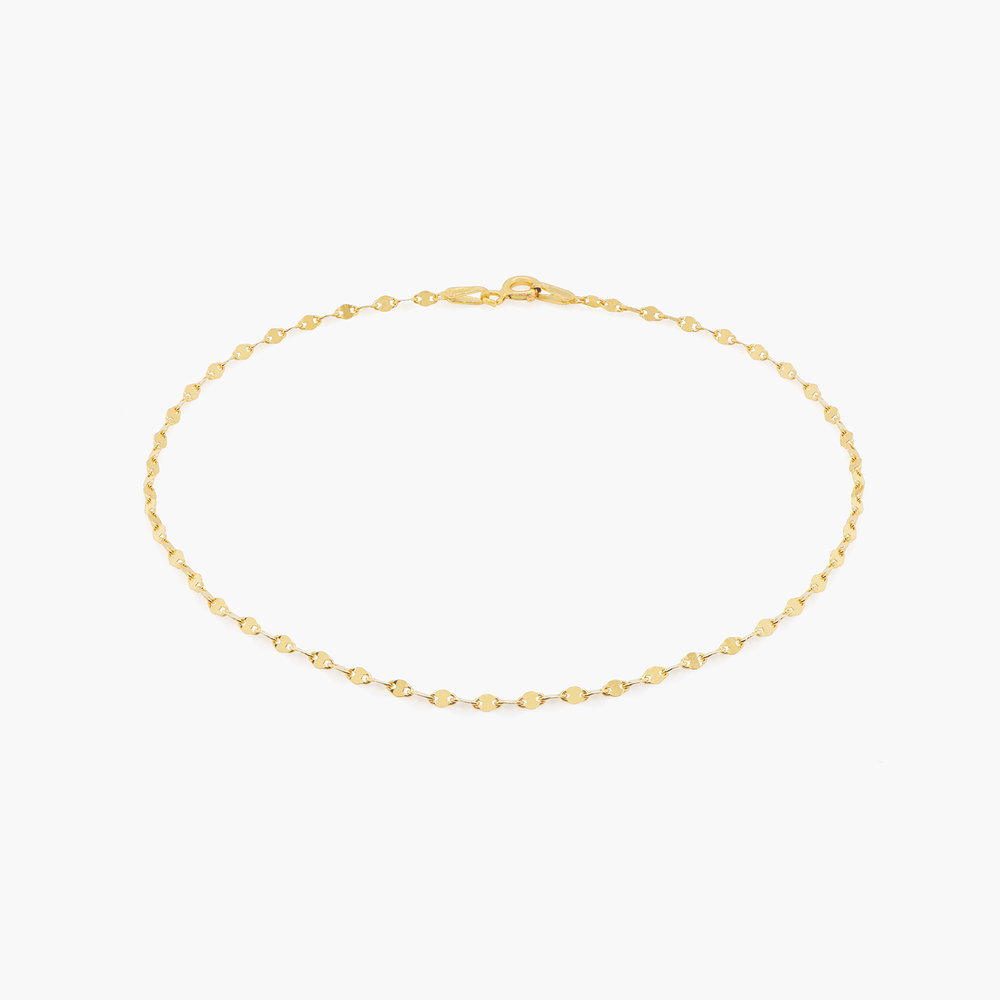 Margo Mirror Chain Bracelet/Anklet - Gold Vermeil