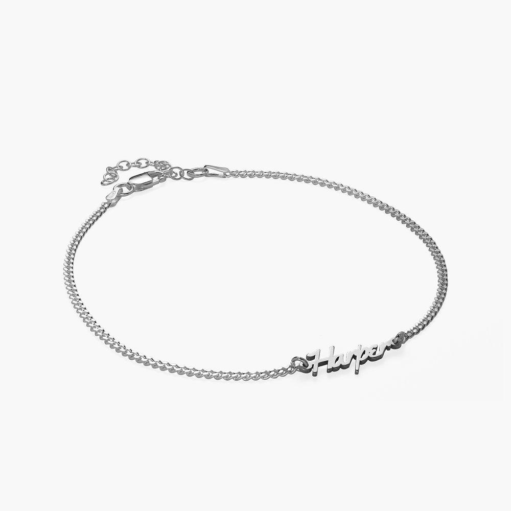 Allora Name Ankle Bracelet - Sterling Silver - 1