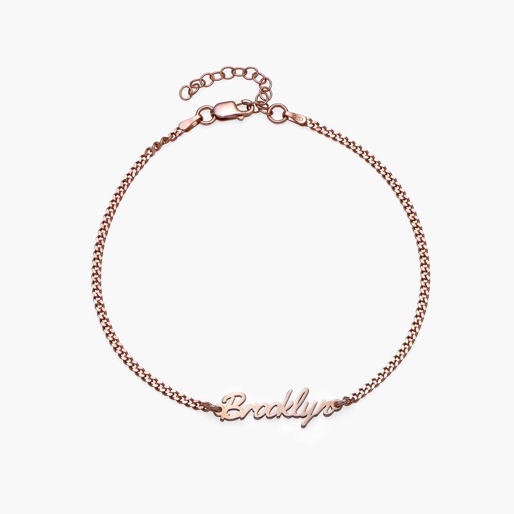 Allora Name Ankle Bracelet - Rose Gold Plating