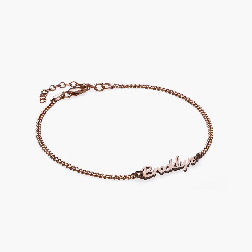 Allora Name Ankle Bracelet - Rose Gold Plating - 1