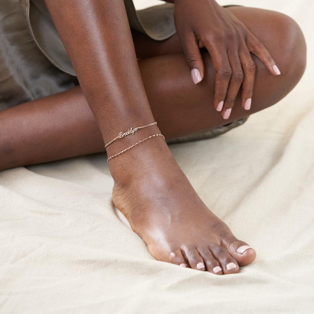 Allora Name Ankle Bracelet - Rose Gold Plating - 2