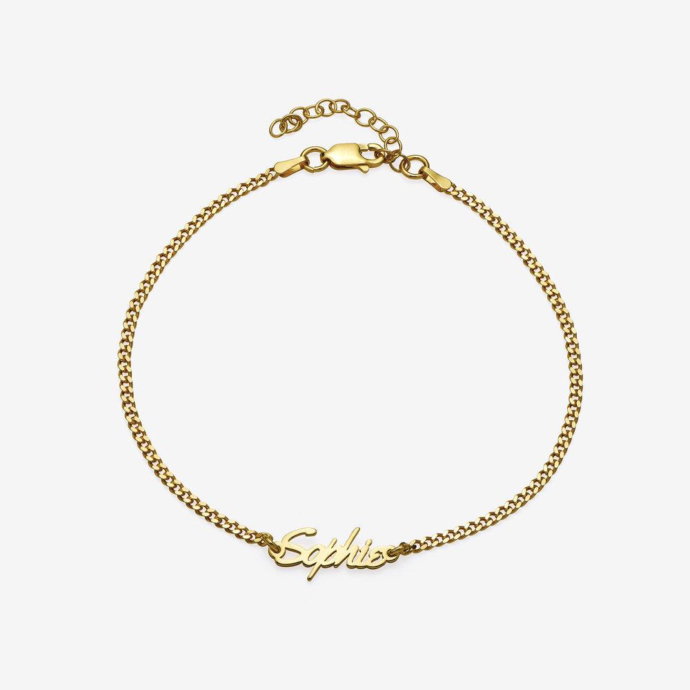 Allora Name Ankle Bracelet - Gold Vermeil