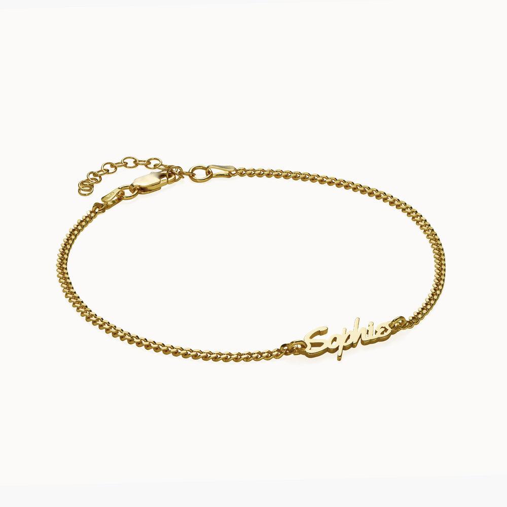Allora Name Ankle Bracelet - Gold Vermeil - 1