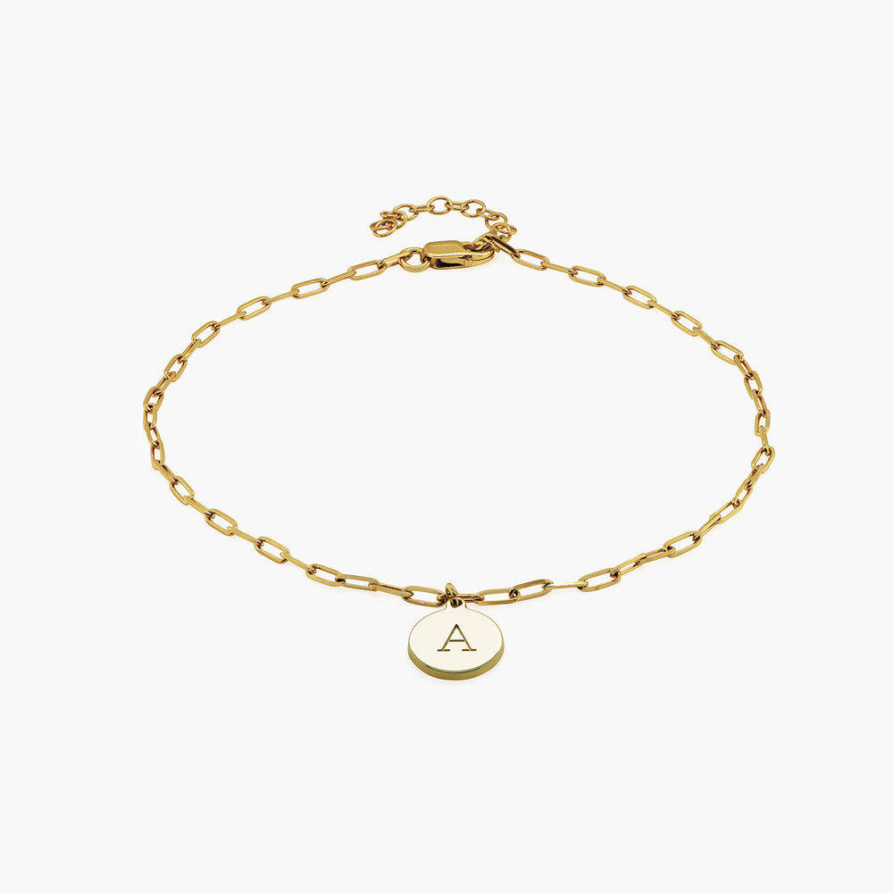 Lilian Initial Anklet Chain - Gold Plating