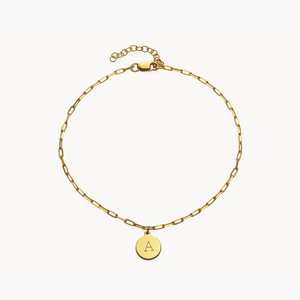 Lilian Initial Anklet Chain - Gold plated - 1