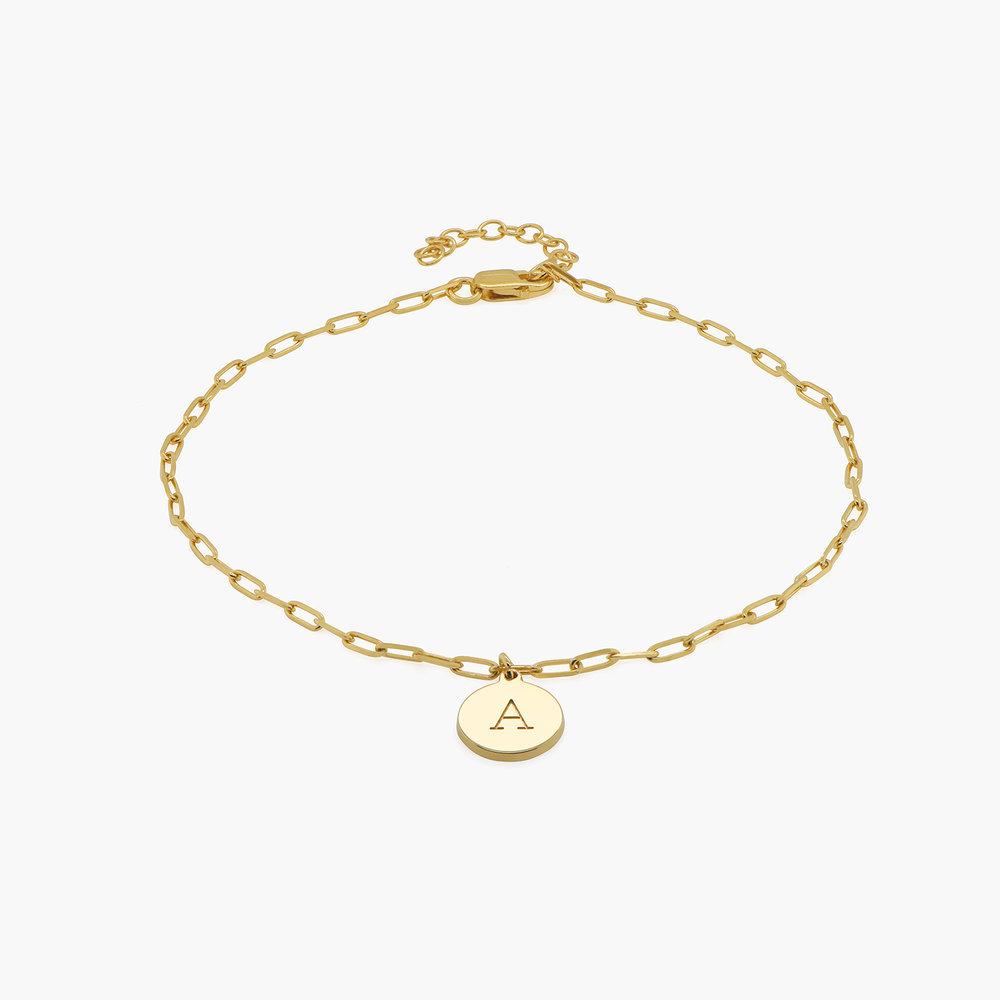 Lilian Initial Anklet Chain - Gold Vermeil