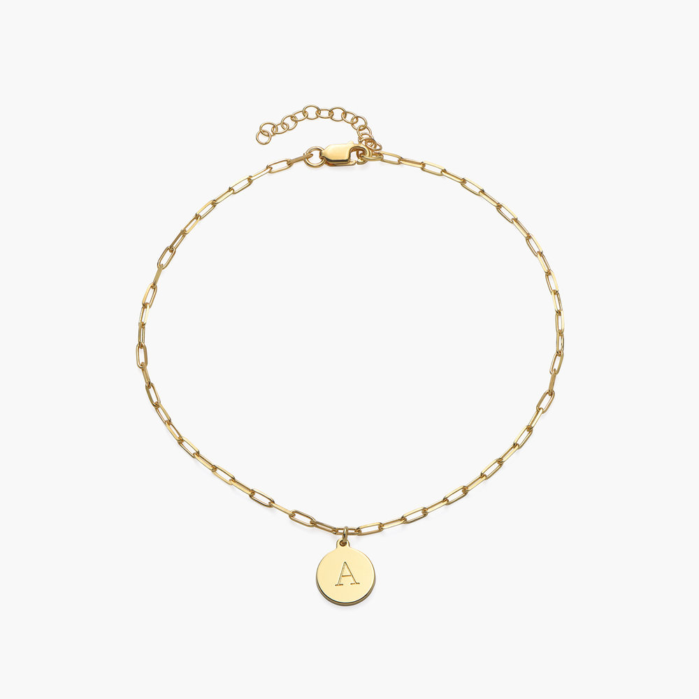 Lilian Initial Anklet Chain - Gold Vermeil - 1