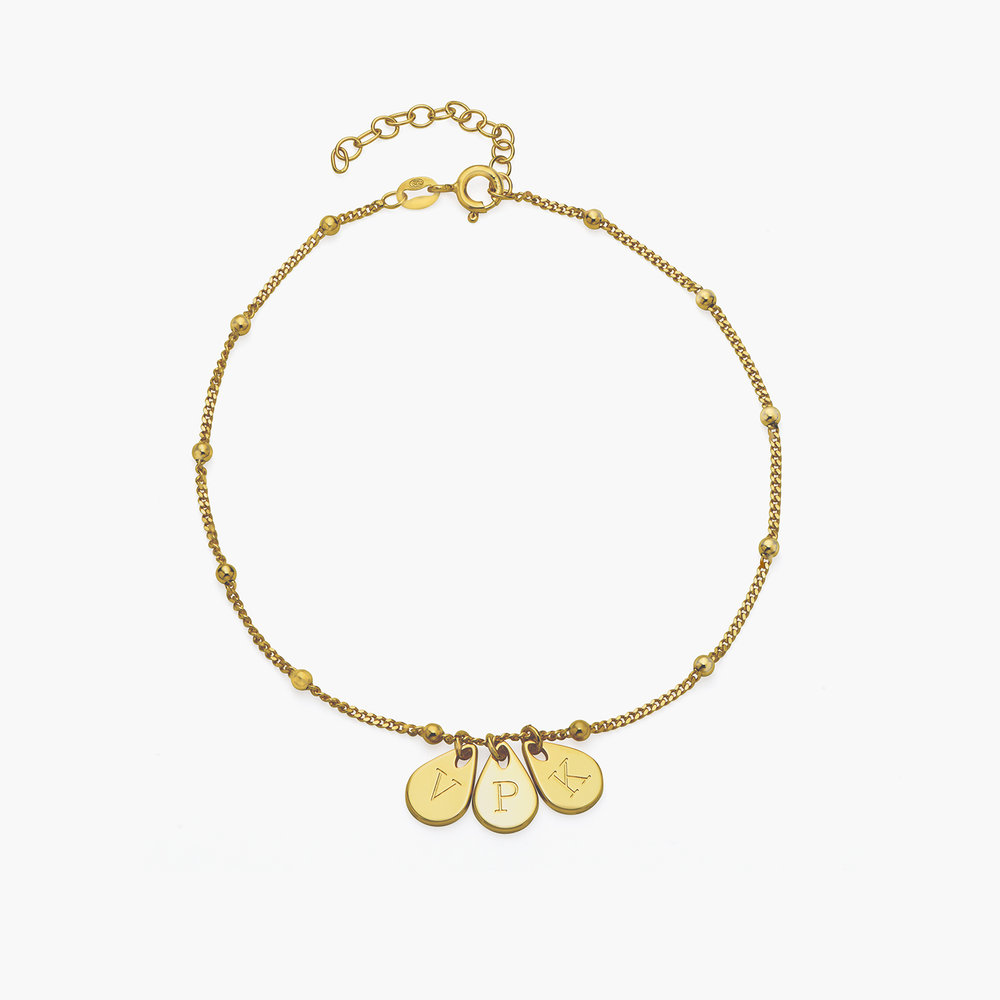 Maren Ankle Bracelet with Initials - Gold Plating - 1