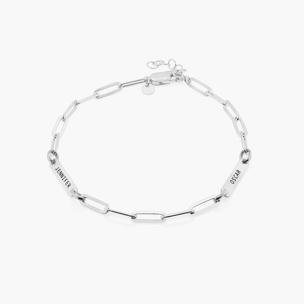 Ivy Name Paperclip Chain Anklet - Sterling Silver