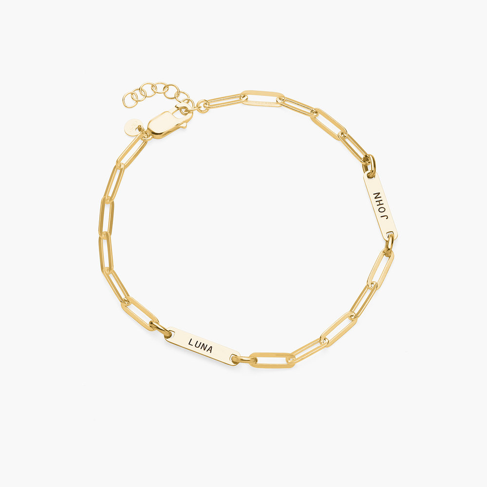 Ivy Name Paperclip Chain Anklet - Gold Plating - 1