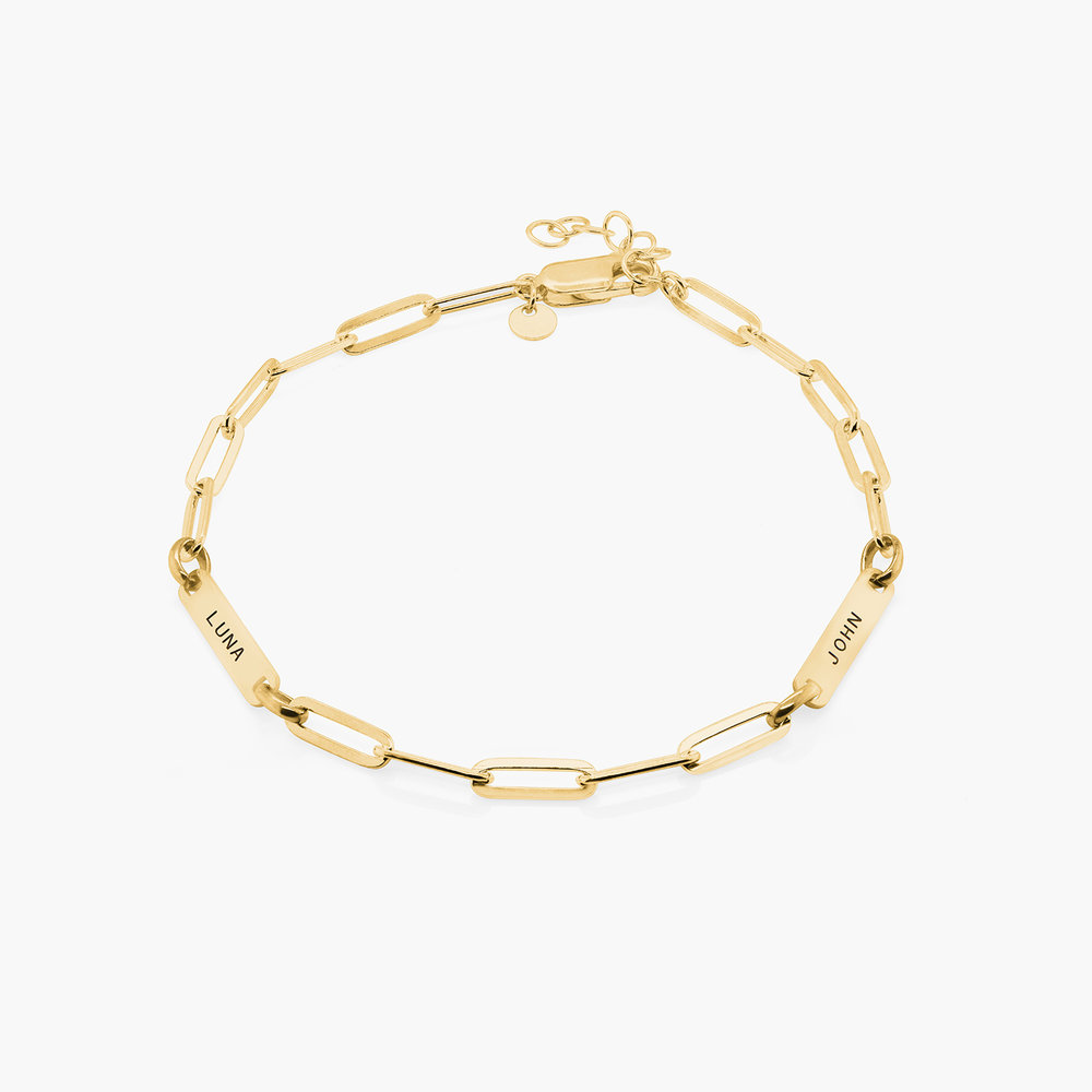 Ivy Name Paperclip Chain Anklet - Gold Vermeil
