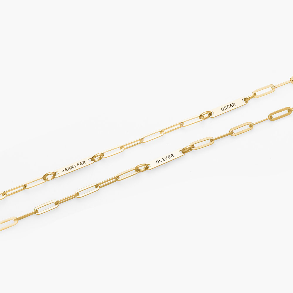Ivy Name Paperclip Chain Anklet - Gold Vermeil - 3