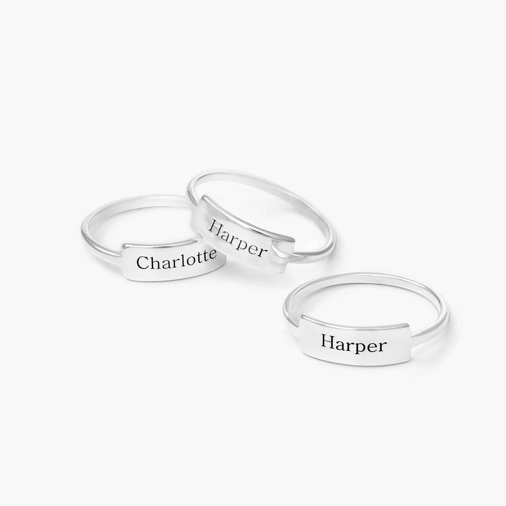 Engraved Nameplate Ring - Sterling Silver - 2
