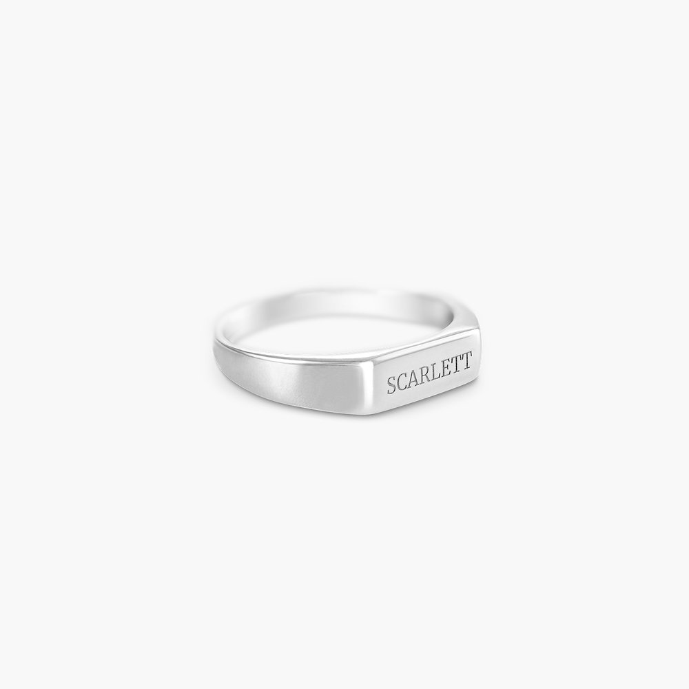 Luna Bar Name Ring - Silver - 1