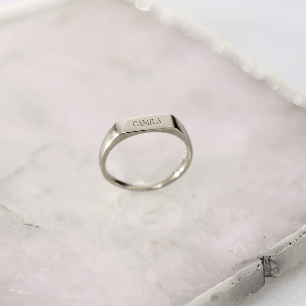 Luna Bar Name Ring - Silver - 2